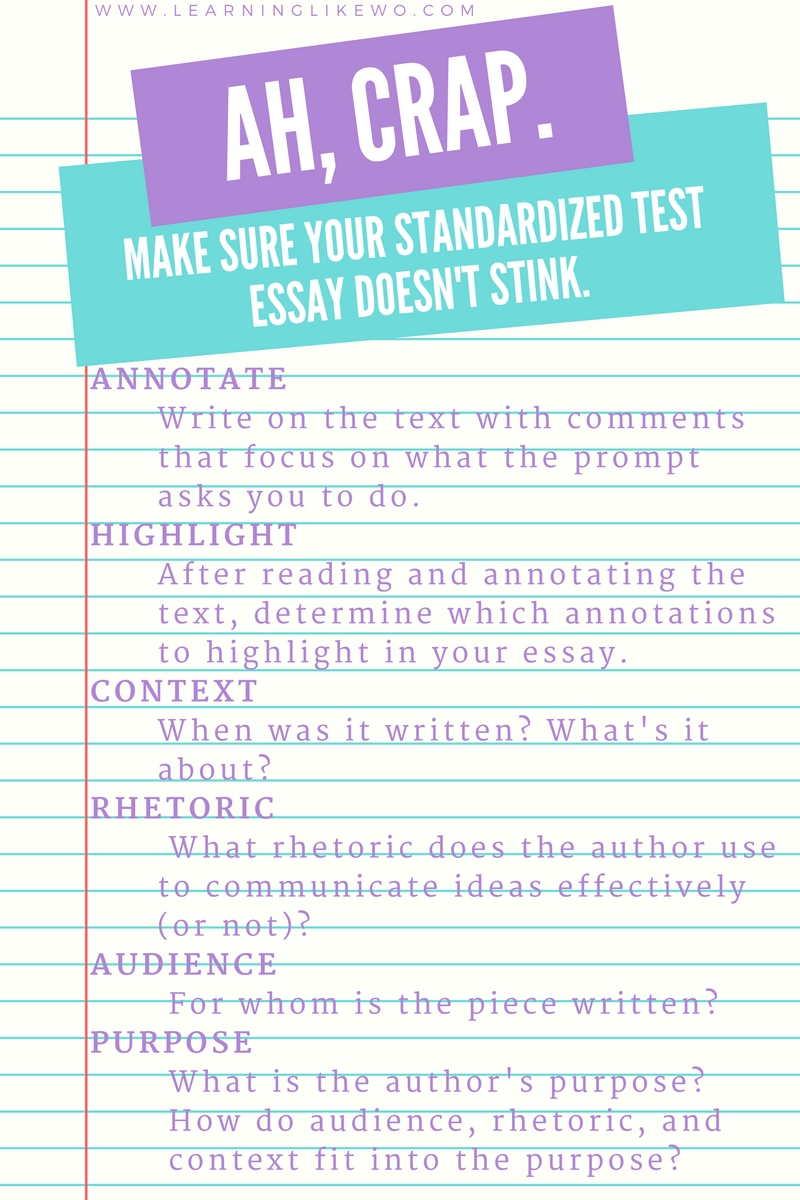 Writing about reading the standardized test essay